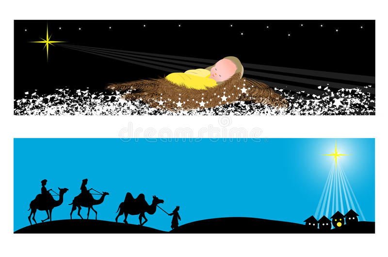 Знамена рождества бесплатная иллюстрация