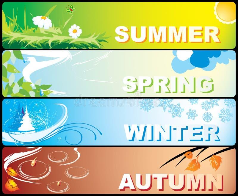 знамена сезонные бесплатная иллюстрация