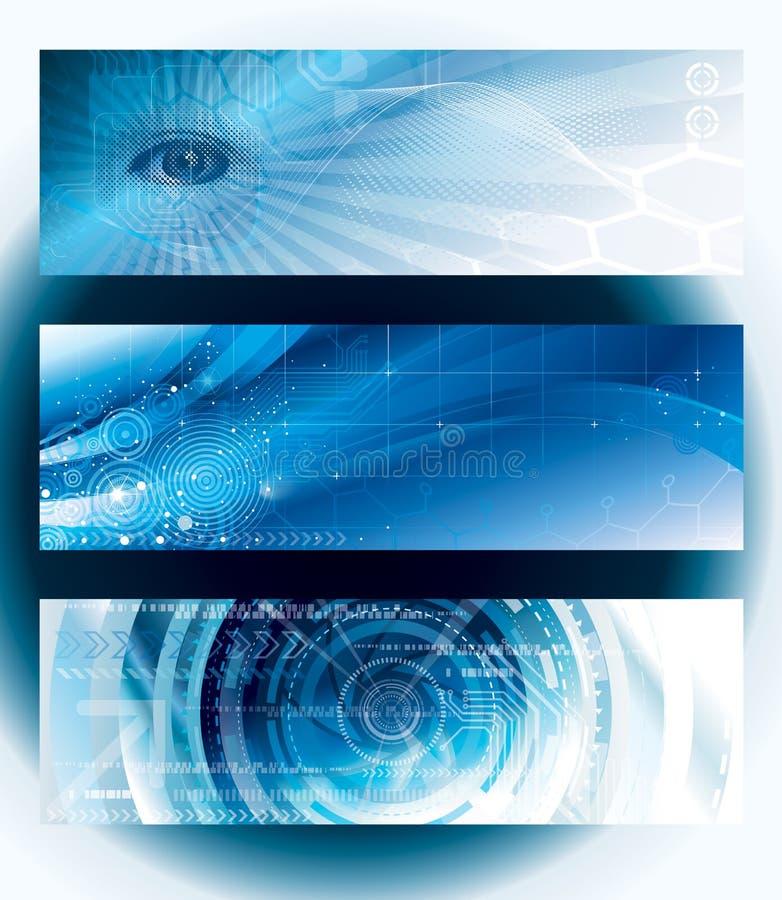 Знамена технологии бесплатная иллюстрация