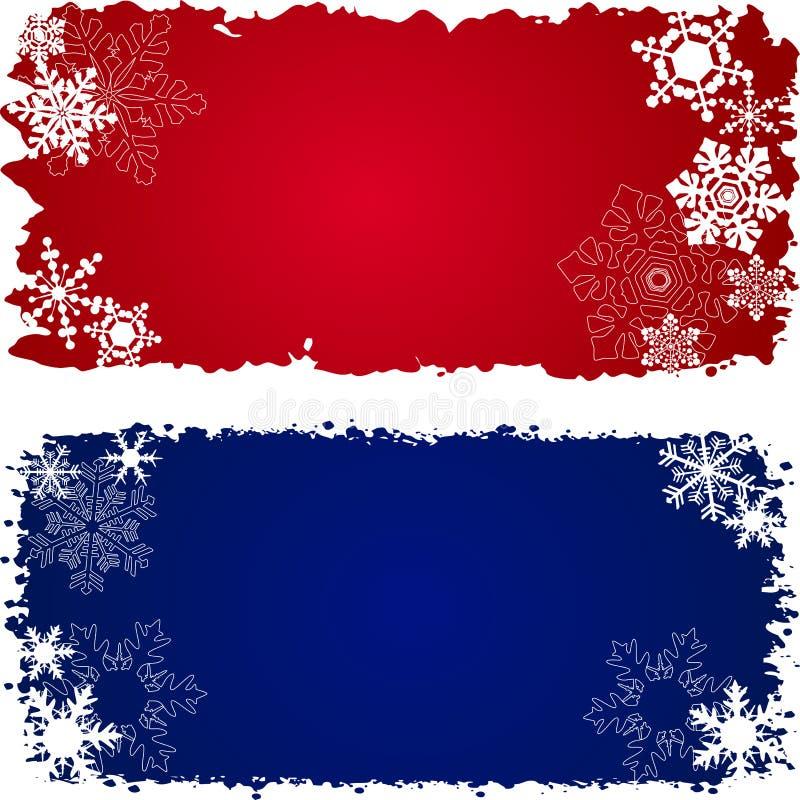знамена установили зиму 3 иллюстрация штока