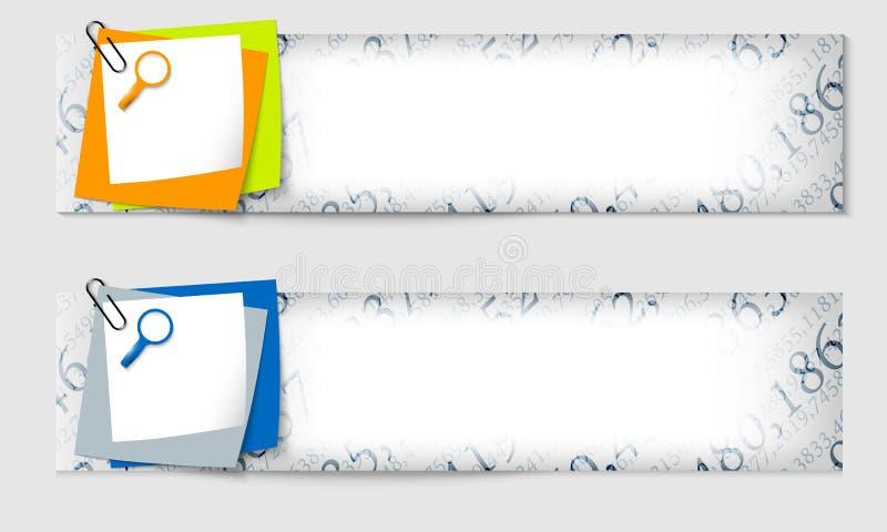 знамена установили 2 иллюстрация вектора