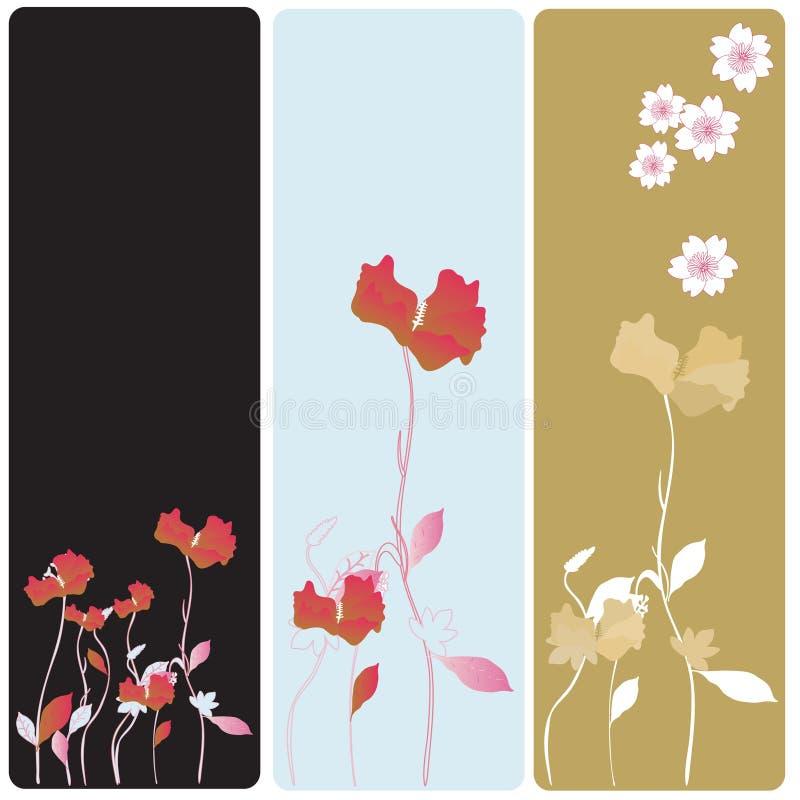 знамена флористические бесплатная иллюстрация