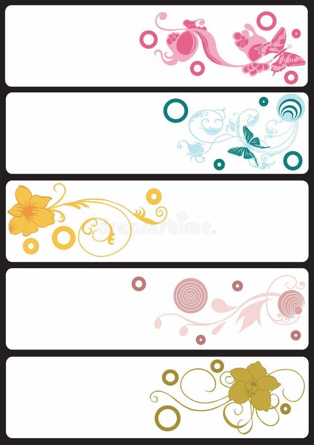 знамена флористические иллюстрация штока