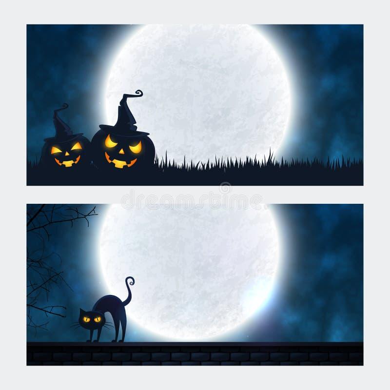 Знамена хеллоуина с copyspace иллюстрация штока