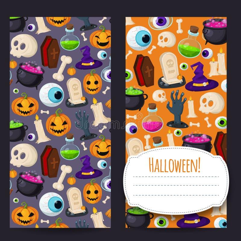 Знамена хеллоуина вертикальные для вашего дизайна иллюстрация штока