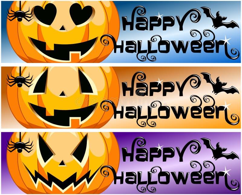 Знамена хеллоуина собрания счастливые горизонтальные бесплатная иллюстрация