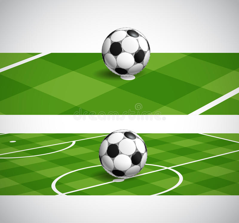 Знамена чемпионата футбола мира иллюстрация штока