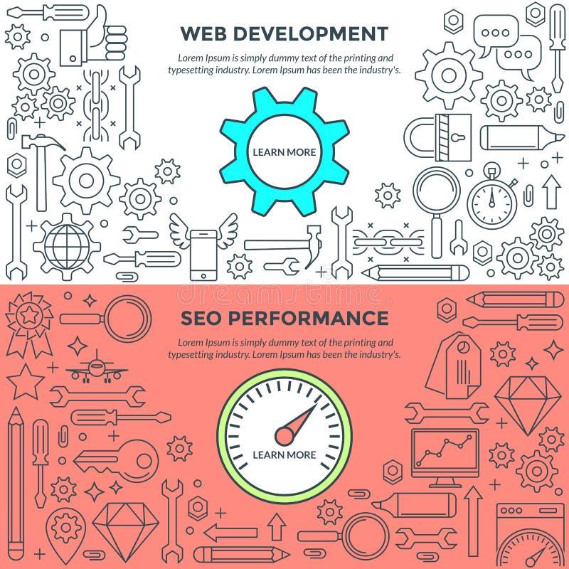Знамена для развития и представления сети бесплатная иллюстрация