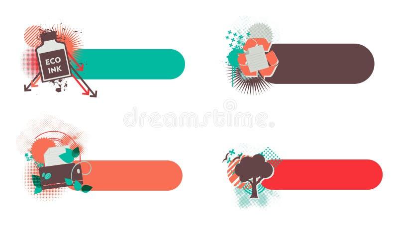 Знамена Eco дружелюбные бесплатная иллюстрация