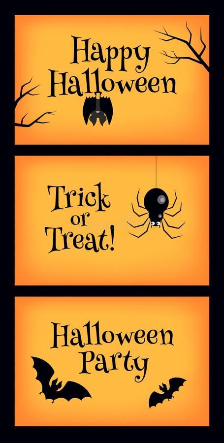знамена halloween 3 иллюстрация вектора