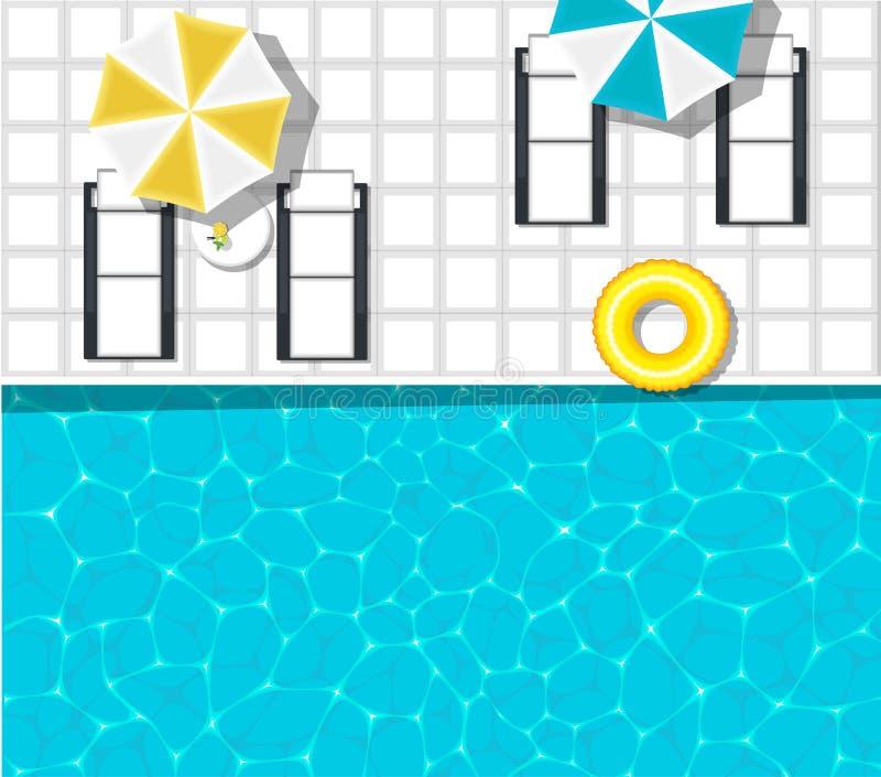 Знамя аквапарк с бассейном бесплатная иллюстрация