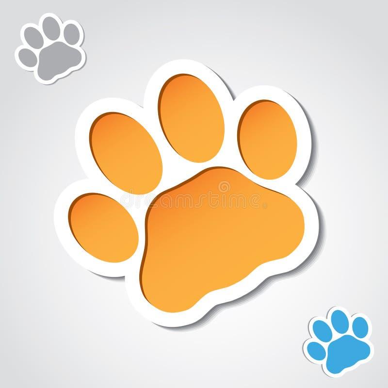 Знамя лапки кота бесплатная иллюстрация