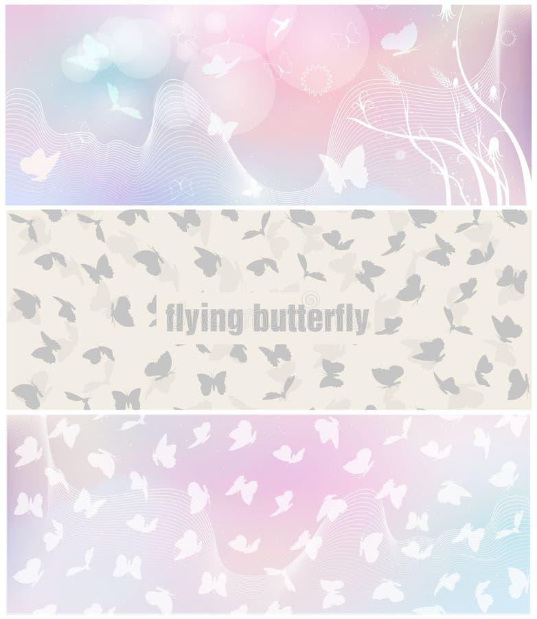 Знамя бабочки для дизайна вектора плаката facebook бесплатная иллюстрация