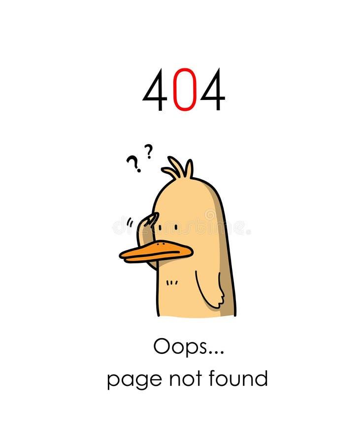 Знамя вебсайта страницы 404 ошибок найденное бесплатная иллюстрация