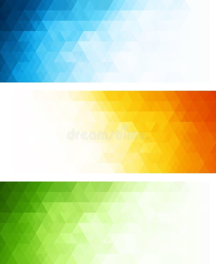Знамя вектора абстрактное геометрическое с треугольником иллюстрация штока