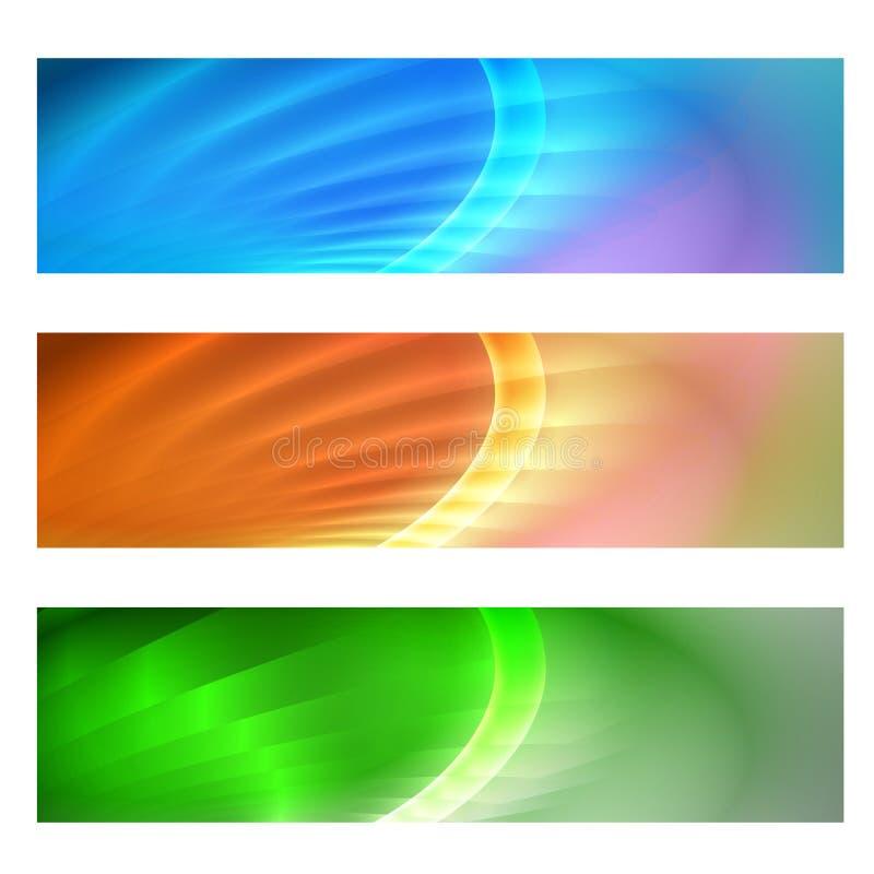 Знамя вектора абстрактное иллюстрация вектора
