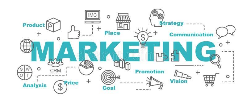 Знамя вектора маркетинга иллюстрация вектора