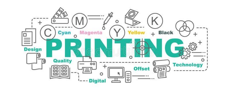 Знамя вектора печатания бесплатная иллюстрация