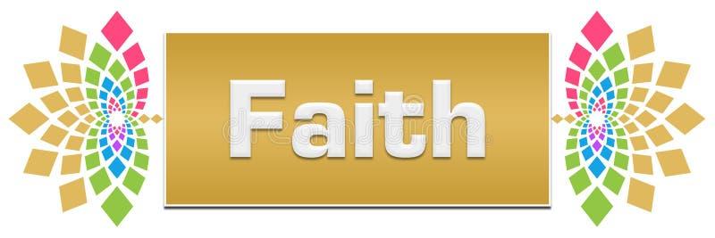 Знамя веры флористическое левое бесплатная иллюстрация