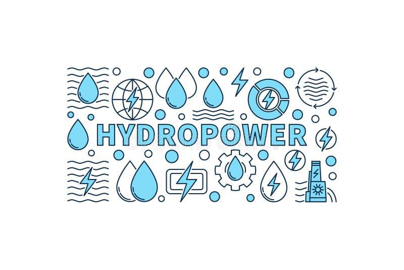 Знамя гидроэлектроэнергии минимальное бесплатная иллюстрация