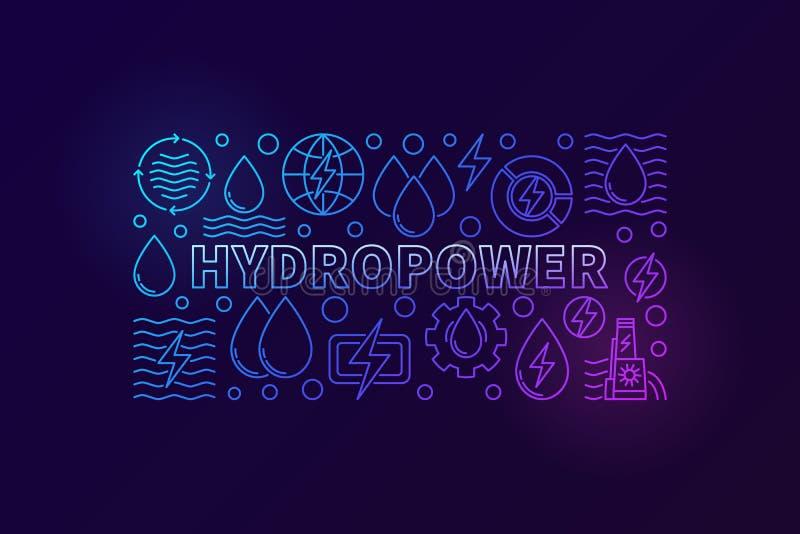 Знамя гидроэлектроэнергии творческое бесплатная иллюстрация