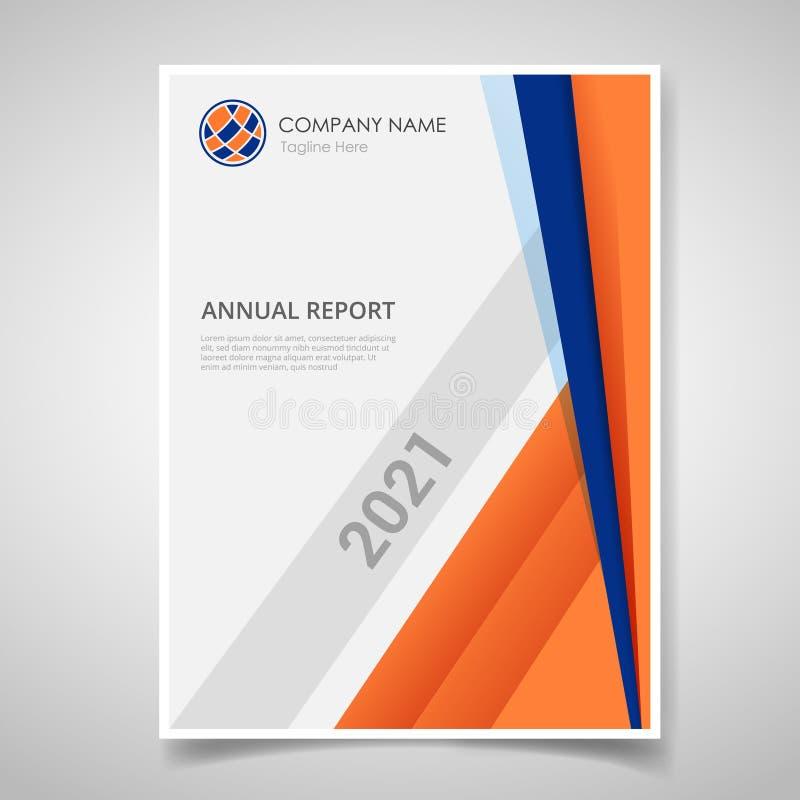 Знамя годового отчета или шаблона журнала брошюры обложки книги с полигональной геометрической формой для шаблона печати - вектор бесплатная иллюстрация