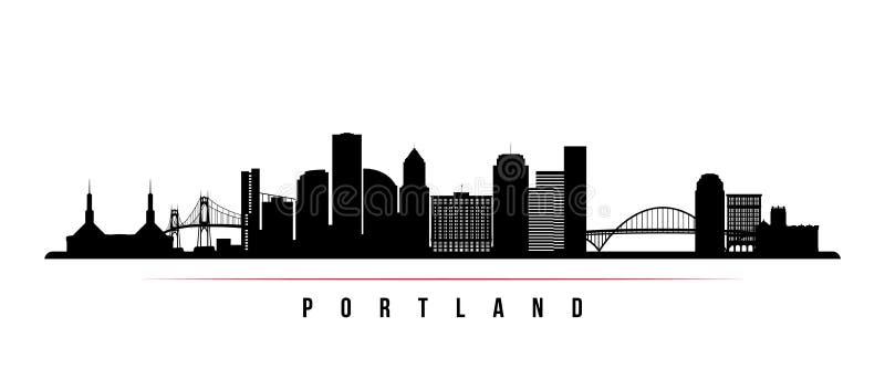 Знамя горизонта города Портленда горизонтальное иллюстрация штока