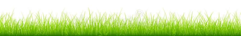 Знамя графических зеленых высот луга различных длинное горизонтальное иллюстрация вектора