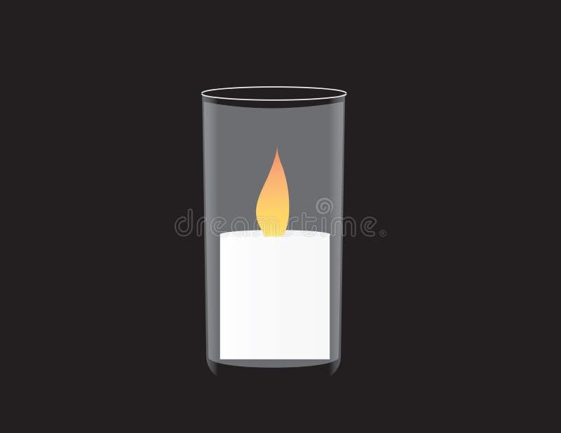 Знамя Дня памяти погибших в войнах Израиля Мемориальная свеча иллюстрация вектора