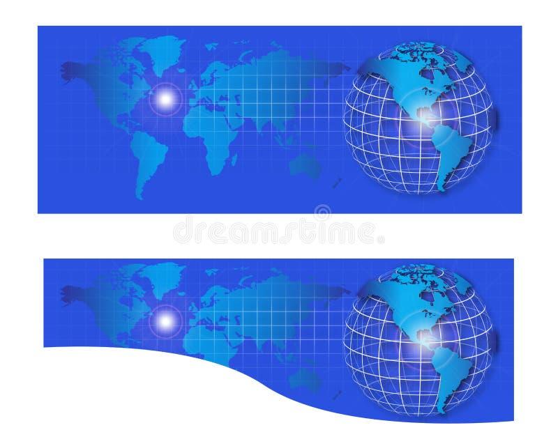Знамя заголовка интернета мира иллюстрация штока