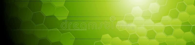 Знамя зеленого техника геометрическое абстрактное иллюстрация штока