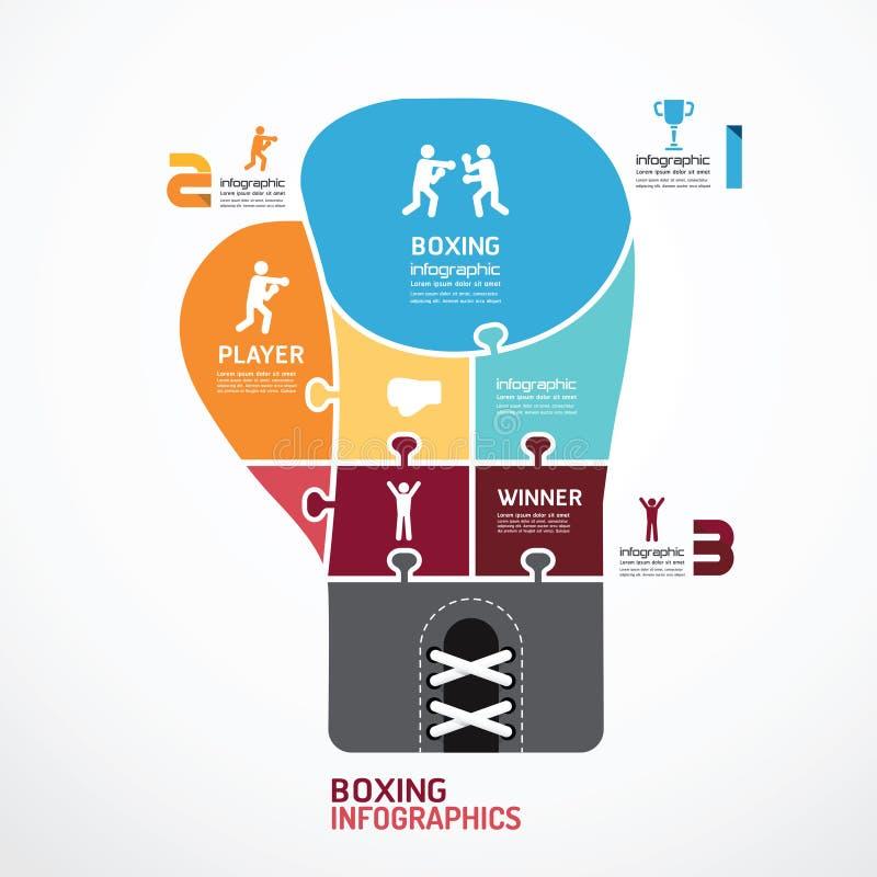 Знамя зигзага бокса шаблона Infographic. concep бесплатная иллюстрация