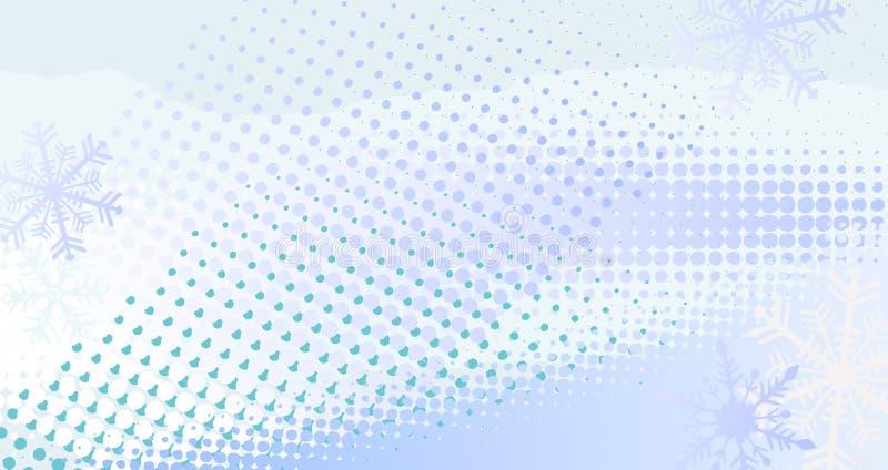 Знамя зимы горизонтальное - иллюстрация вектора бесплатная иллюстрация