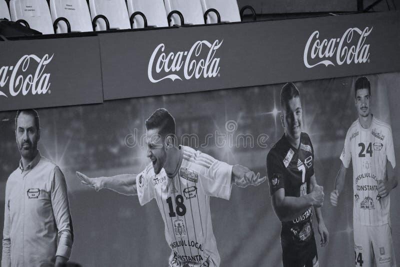 Знамя кока-колы крытое стоковое изображение