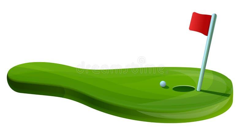 Знамя концепции поля гольфа, стиль мультфильма бесплатная иллюстрация