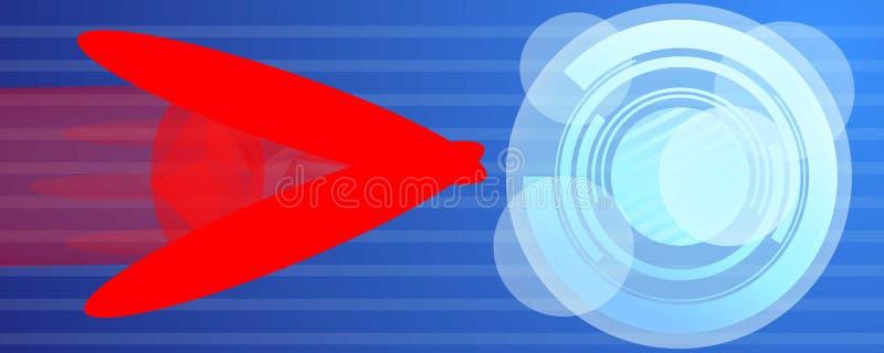 Знамя концепции atack компьютерного вируса, стиль мультфильма иллюстрация вектора