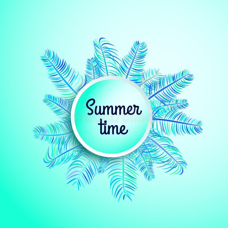 Знамя летнего времени, продажа лета иллюстрация штока