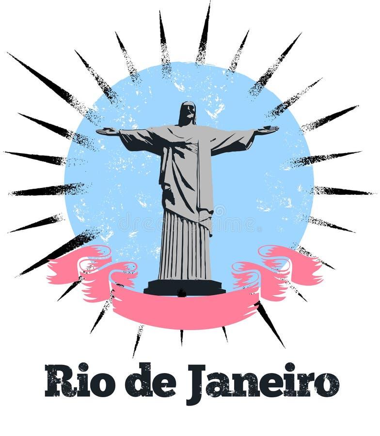 Знамя логоса Рио Де Жанеиро иллюстрация вектора