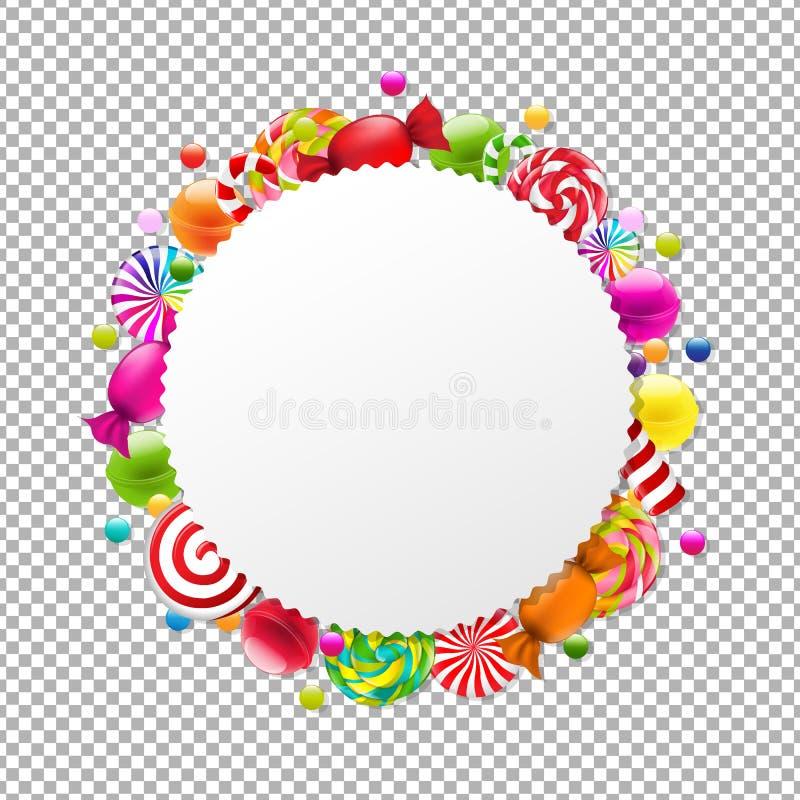 Знамя магазина конфеты иллюстрация вектора