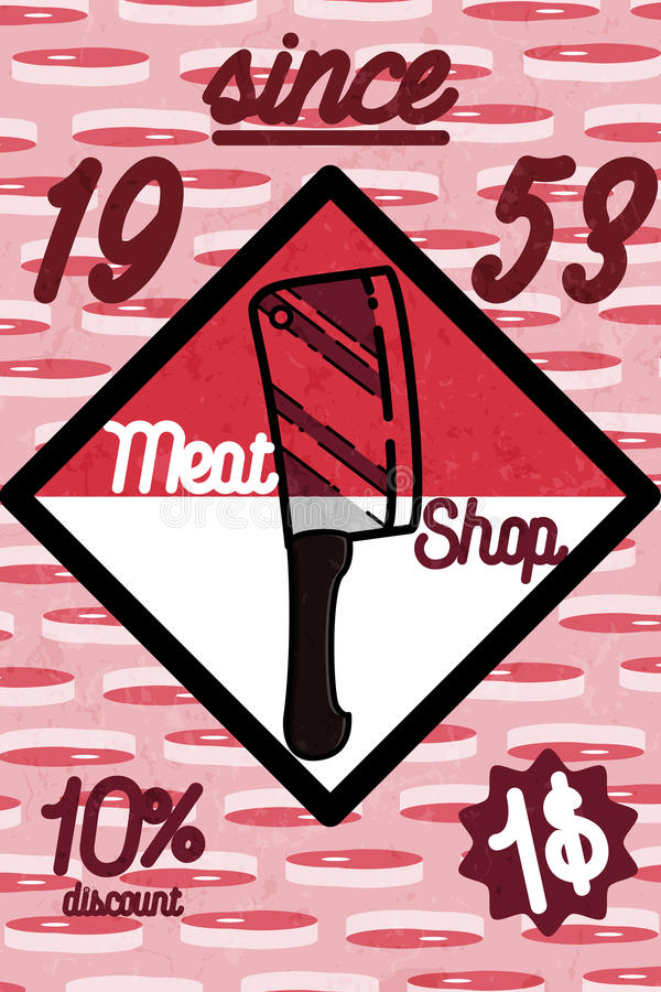 Знамя магазина мяса иллюстрация вектора