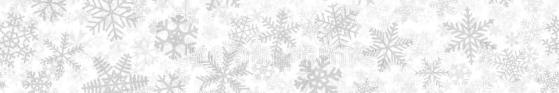 Знамя много слоев снежинок иллюстрация штока
