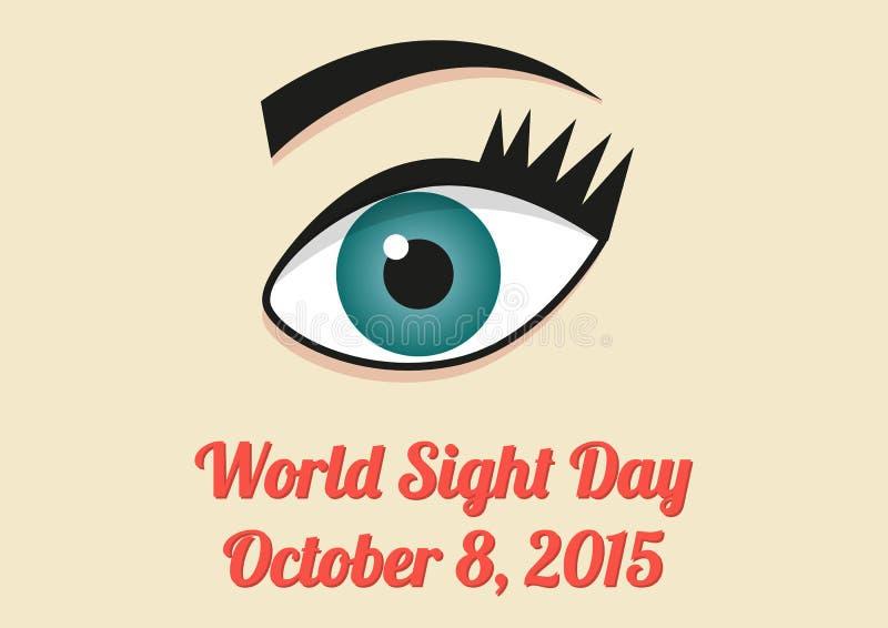 Знамя на день визирования мира - 8-ое октября 2015 бесплатная иллюстрация