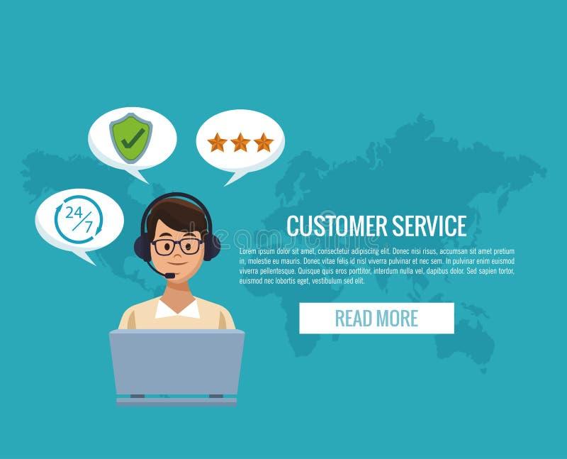 Знамя обслуживания клиента бесплатная иллюстрация
