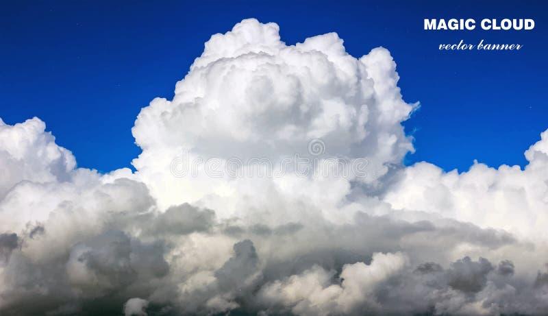 Знамя облака вектора абстрактное иллюстрация вектора