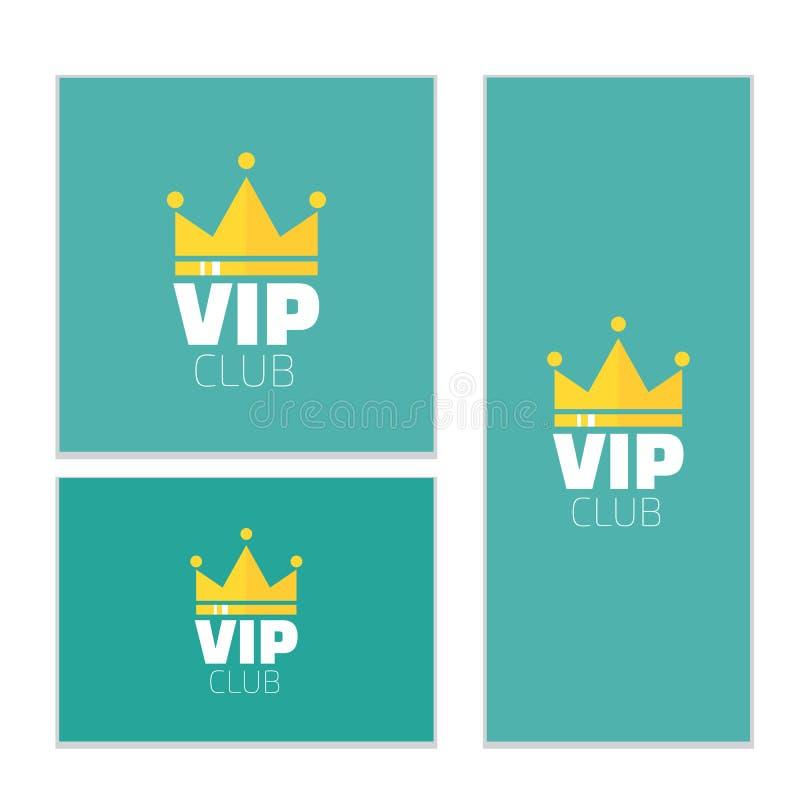 Знамя логотипа клуба VIP Знамя членов клуба VIP только Иллюстрация вектора Diadem бесплатная иллюстрация