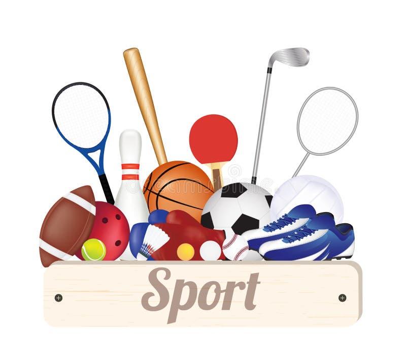 Знамя доски спорта деревянное с футбольным мячом бесплатная иллюстрация