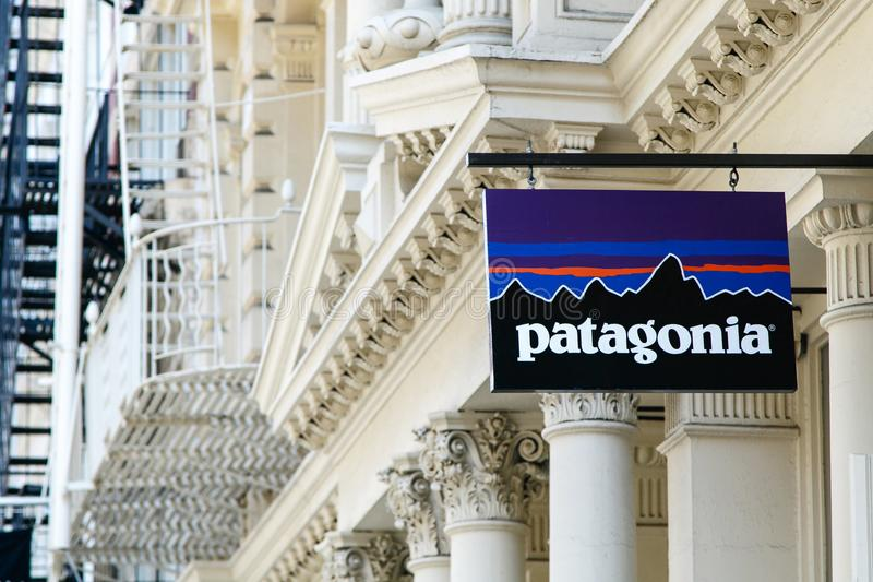 Знамя Патагонии стоковые изображения