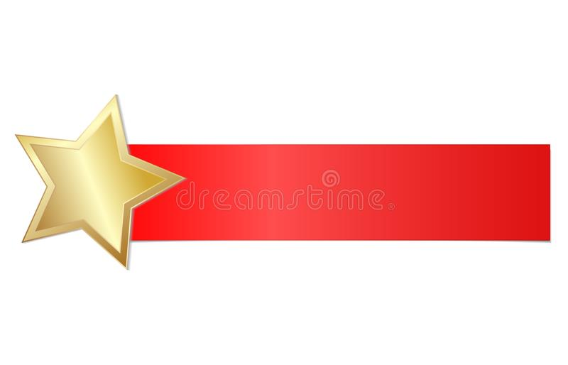 Знамя праздника с сияющим золотом звезды, иллюстрацией вектора запаса бесплатная иллюстрация