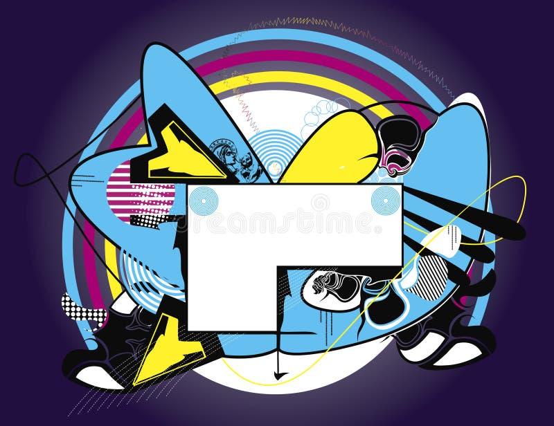 знамя предпосылки декоративное иллюстрация штока