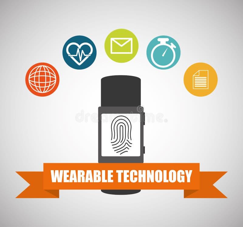 Знамя пригодного для носки smartwatch технологии здоровое иллюстрация вектора